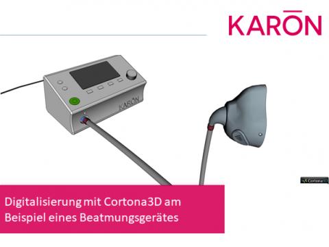 Digitalisierung mit Cortona3D am Beispiel eines Beatmungsgerätes