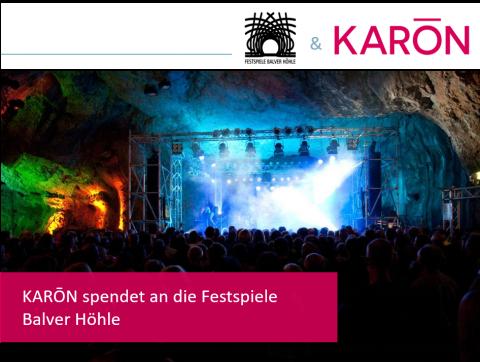 KARŌN spendet an die Festspiele Balver Höhle
